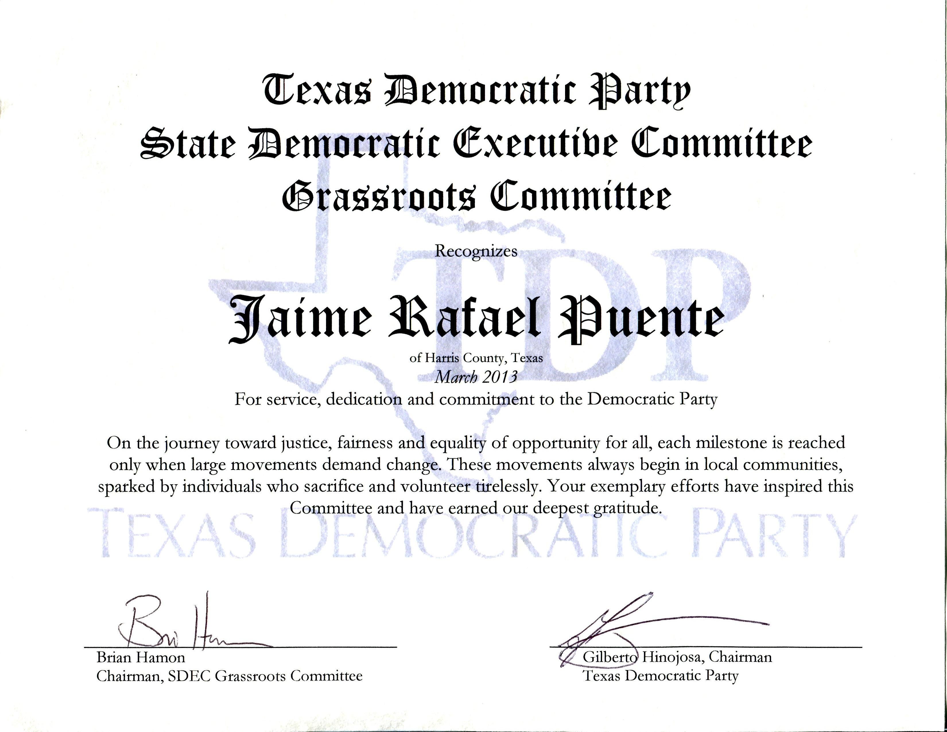 Texas Democratic Party - SDEC
